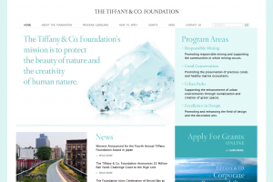 Tiffany Foundation screenshot.