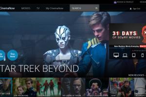 CinemaNow screenshot